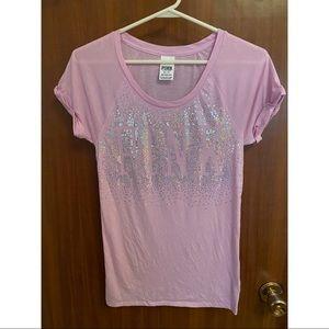 Victoria's Secret Pink Purplish Pink Sequinned Top